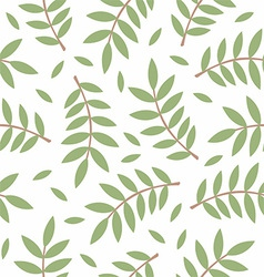 Pattern of twigs with leaves vector