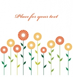 cute stylish abstract flowers vector image