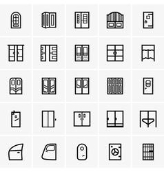 Door icons vector image