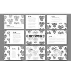 Set of 9 templates for presentation slides modern vector