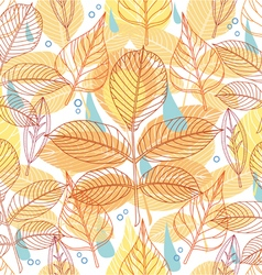 A seamless pattern with autumn leaves vector image