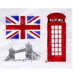 London symbols flag vector