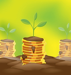 Tree saving finance coin money vector