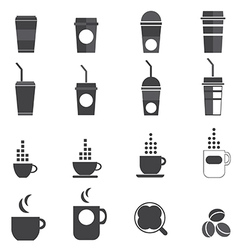 1208 coffee icons vector