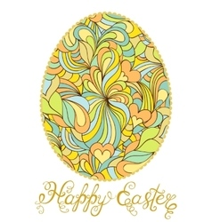 Colorful easter egg on white background vector