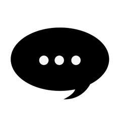 Conversation bubble with dots icon vector