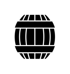 barrel icon black sign on vector image