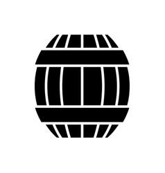 Barrel icon black sign on vector