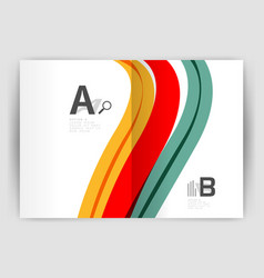 Business brochure flyer tempalate wave and line vector