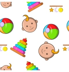 Child pattern cartoon style vector