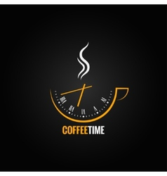 coffee cup clock time concept background vector image
