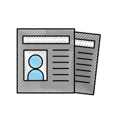 Curriculum vitae isolated icon vector