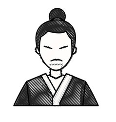 drawing character japanese man clothes culture vector image