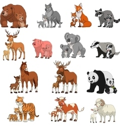 Funny exotic animals vector
