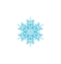 geometric snowflake blue element for decor vector image