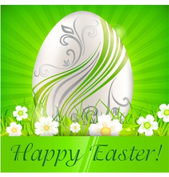 happy easter green background 10 v vector image vector image