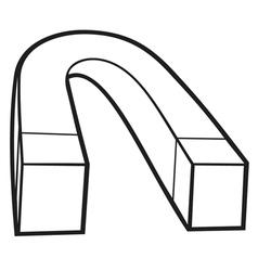 horseshoe magnet vector image vector image