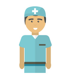 hospital professional doctor with uniform vector image
