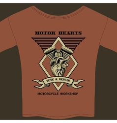 Motor hearts motorcycle workshop vector