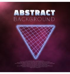 Neon poster retro 1980s style disco background vector