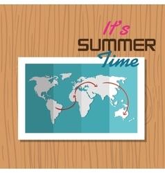 Postcard summer vacation map vector