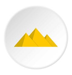 Pyramide icon circle vector