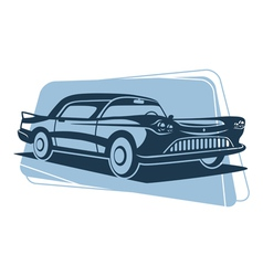 Retro car silhouette vector