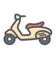 scooter filled outline icon transport and vehicle vector image