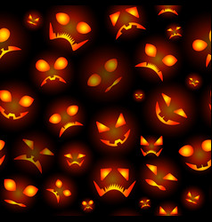 seamless background from pumpkins for halloween vector image