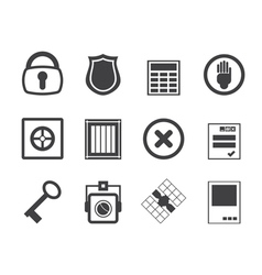 Simple Security and Business icons vector image vector image