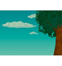 Summer landscape with trees and foliage vector image