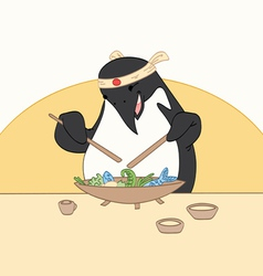 Sushi Penguin vector image vector image