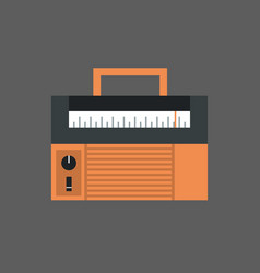 tape recorder icon modern audio system vector image