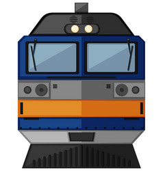 train head with blue color vector image