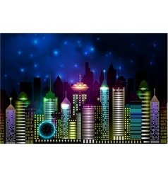 Vancouver Canada skyline silhouette vector image