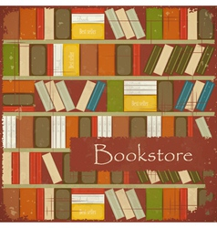 Vintage Bookstore Background vector image vector image
