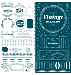 Vintage hand drawn divider lines set vector