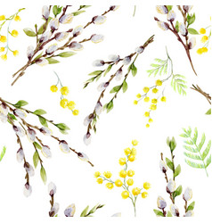 watercolor willow tree pattern vector image vector image