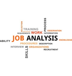 Word cloud job analysis vector