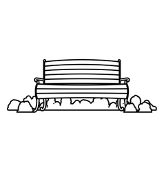 Wooden chair with shrubs vector