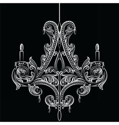 Exquisite baroque classic chandelier vector