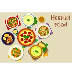 Tasty food icon for lunch menu design vector
