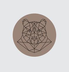 bear head in polygonal style vector image