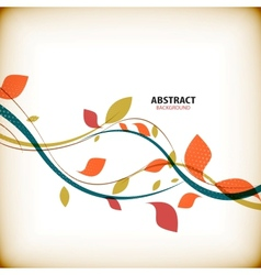 Minimal autumn floral abstract background vector image