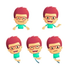Casual man in various poses vector