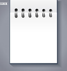 Notebook or calendar template vector
