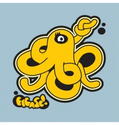 Octopus graffiti vector