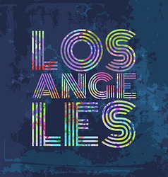 Los angeles - artwork for wear in custom colors vector