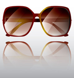 Big frame maroon sunglasses vector