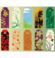 set of bookmarks vector image